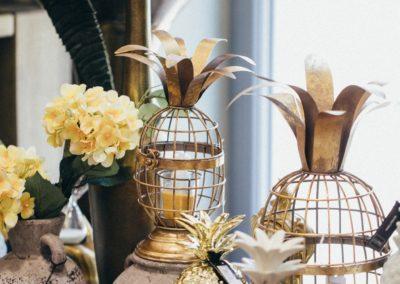 goldene Ananas Windlichter
