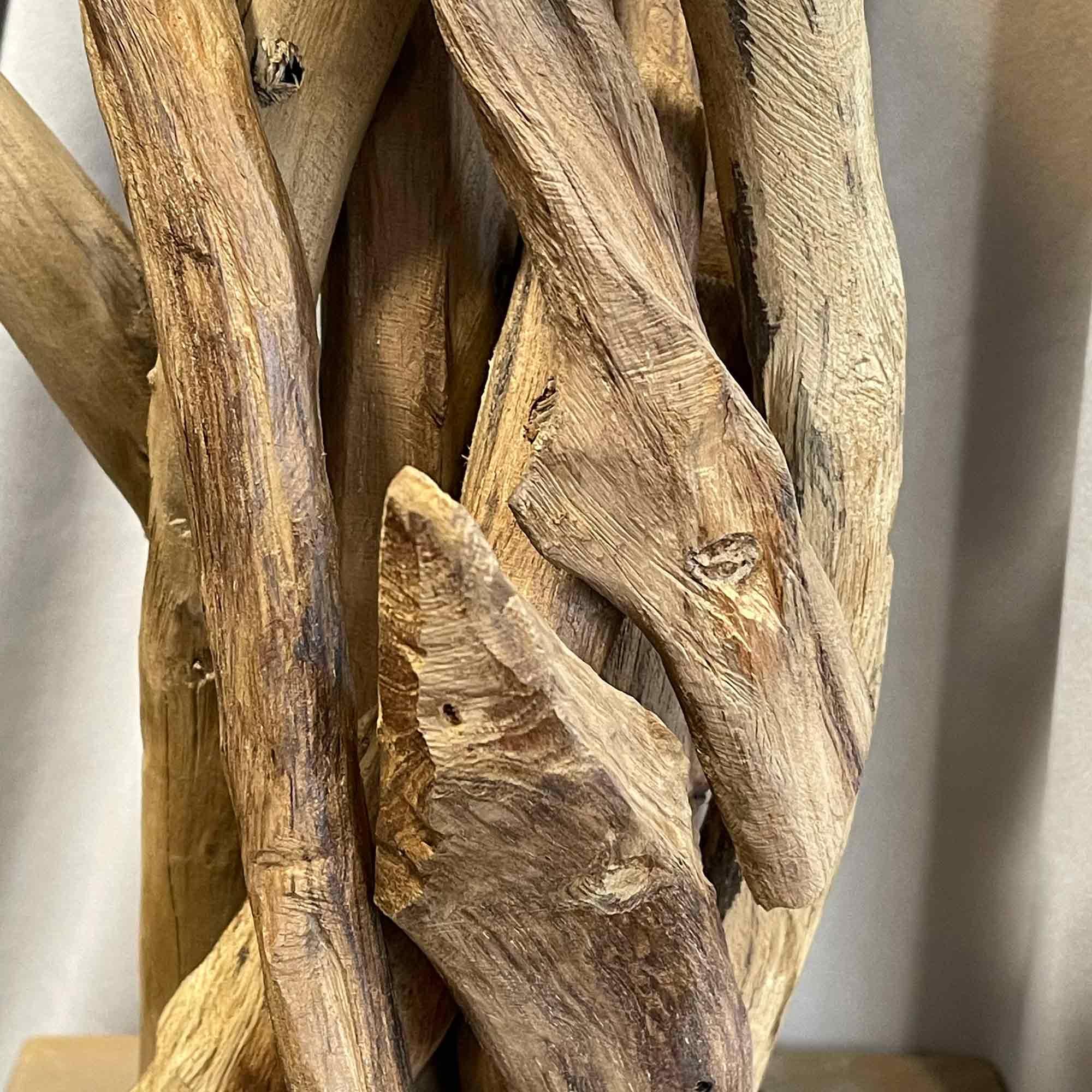 behandeltes Holz von Nahem